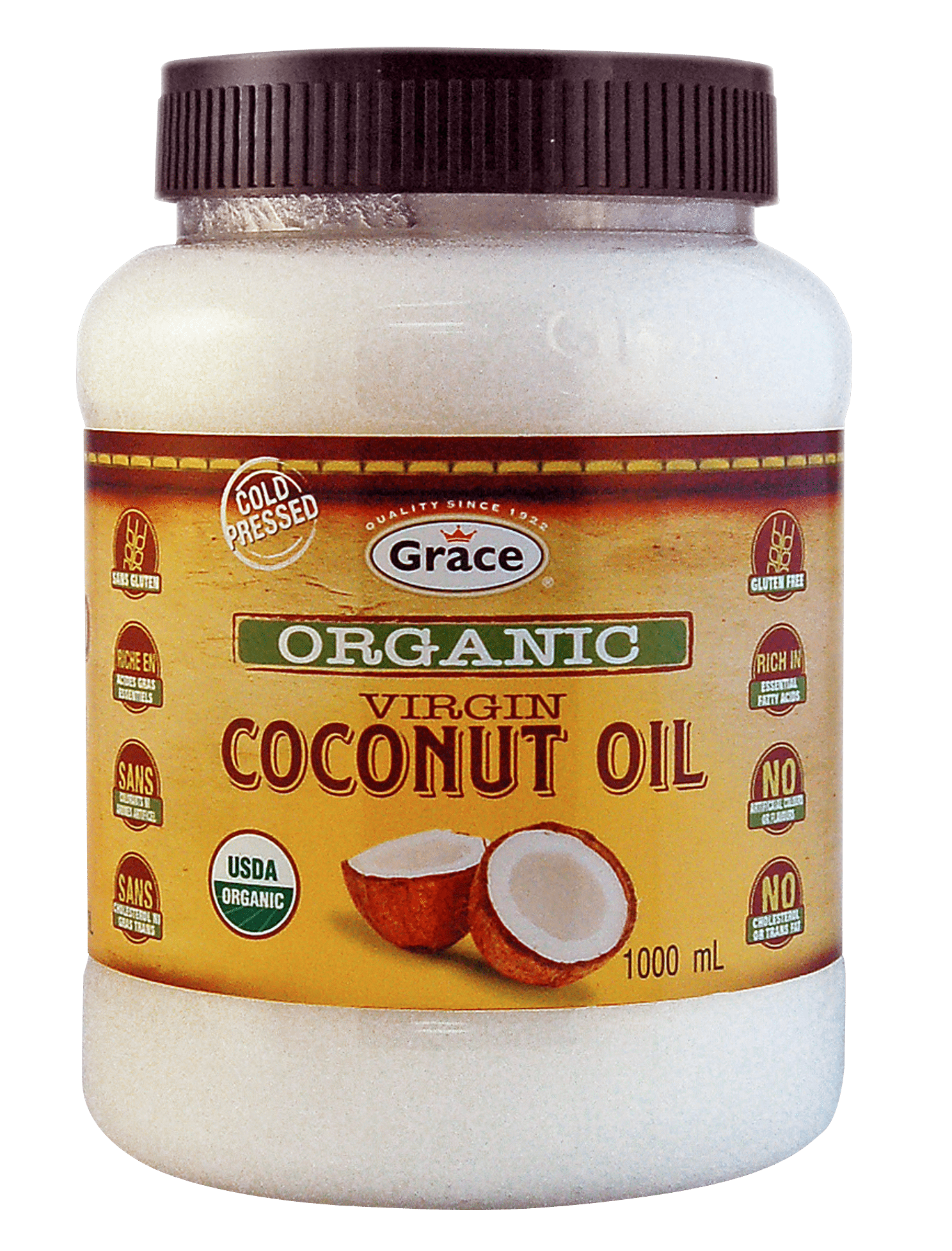 grace organic virgin coconut oil 1L