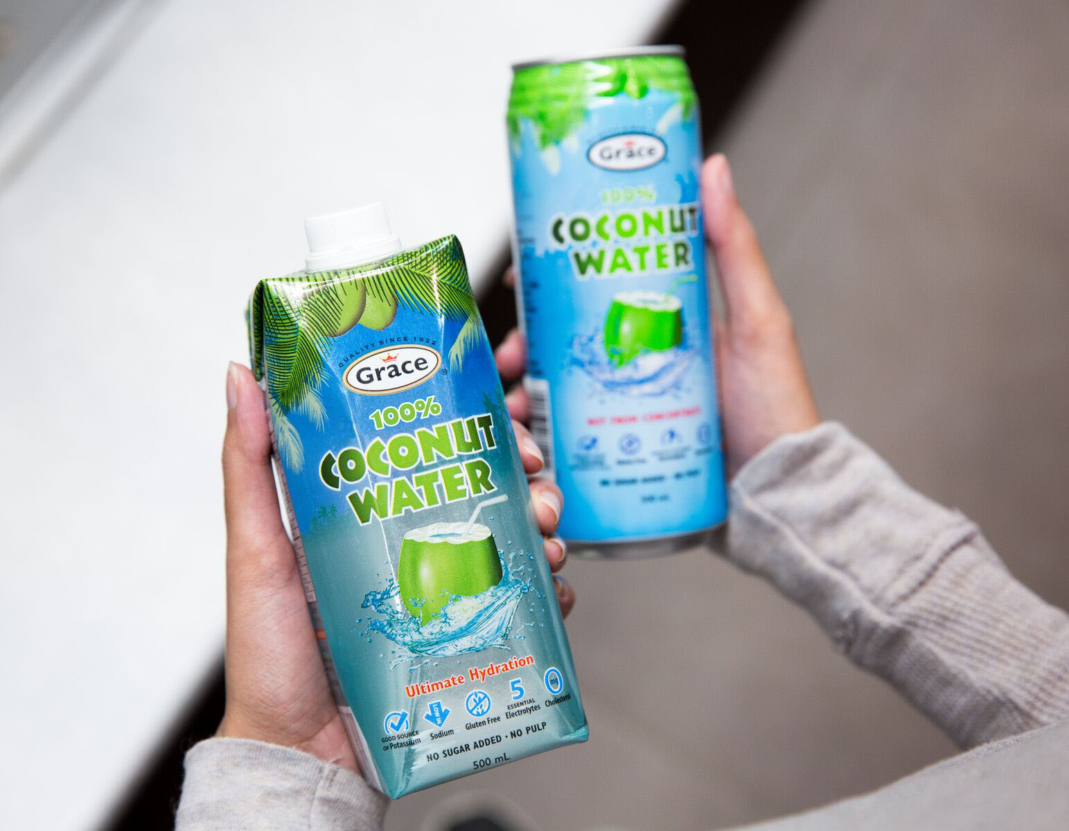 2 cans of coconut water