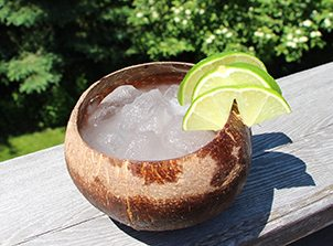 coconut water with lime