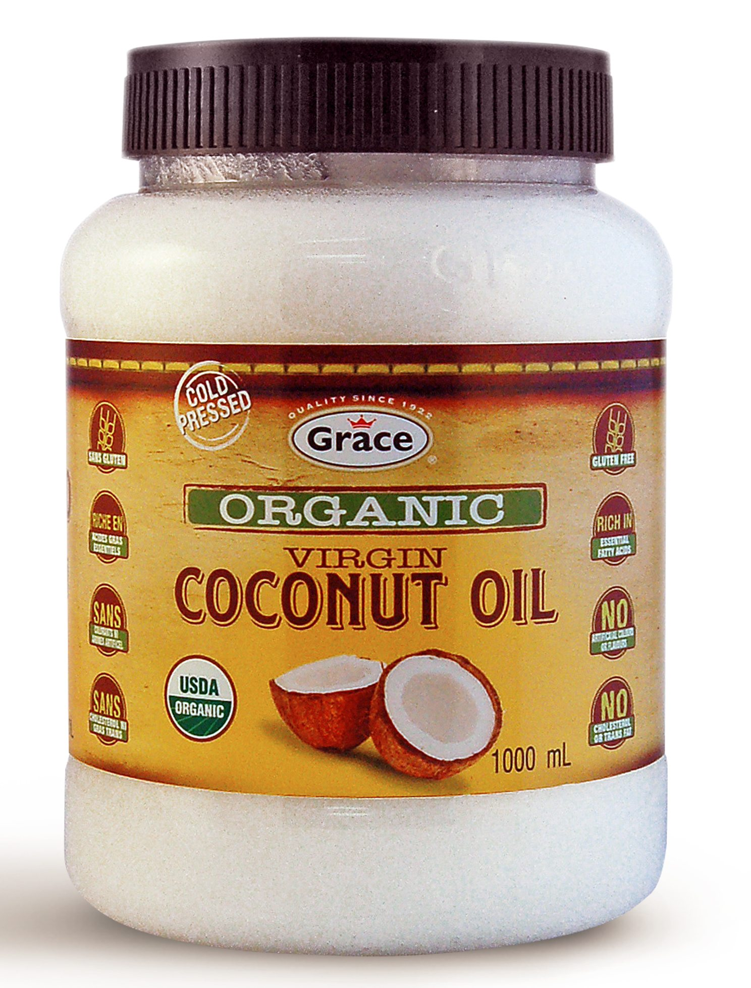 Grace Organic Coconut Oil 1L