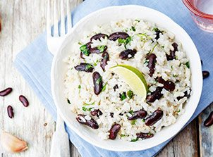 Lime and Cilantro Flavoured Coconut Rice