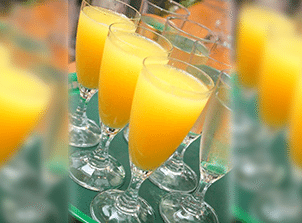 Pineapple Ginger Mimosas