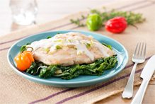poached chicken breast