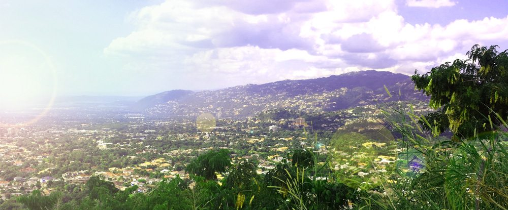 overlooking kingston jamaica