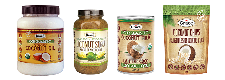 Organic and natural coconut products grace foods for List of natural items