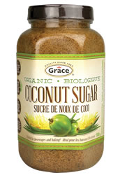 jar of coconut sugar