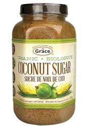 jar of coconut sugar