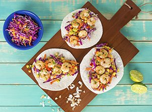Shrimp Taco with Pineapple Salsa