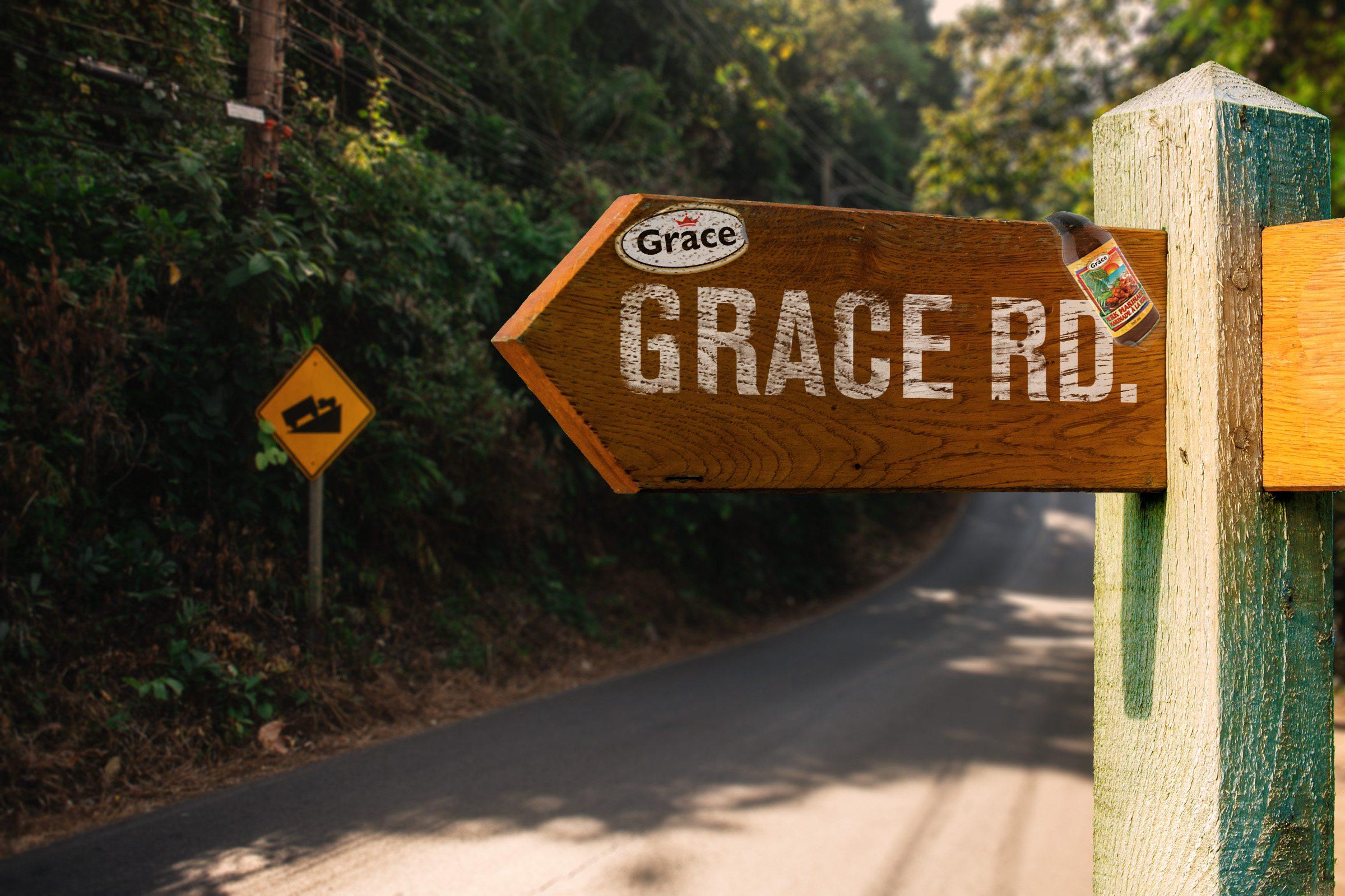 Grace Road Sign